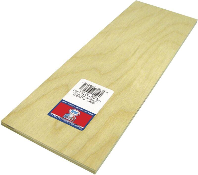 "Plywood Board-4""X.125""X12"""