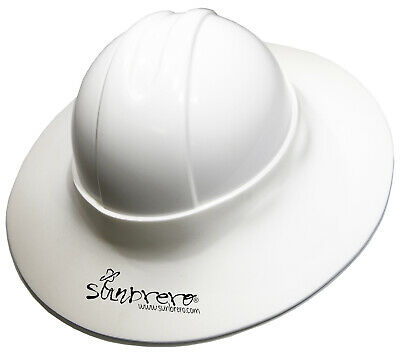 The Original Sunbrero Construction Hard Hat Sun Visor White