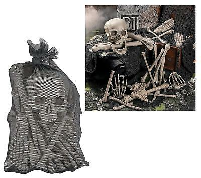 Bag of Skeleton Bones 28 Piece Set Halloween Decor  - Bag Of Bones Halloween Decoration