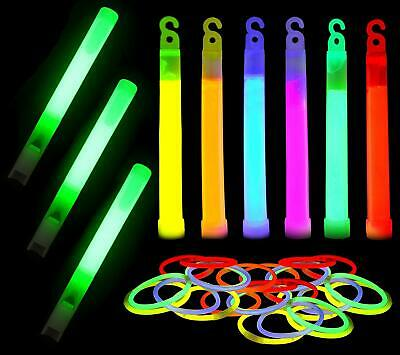 60 Pack Glow Sticks Bulk Ultra Bright Glow Whistle Emergency Kit Multi Color