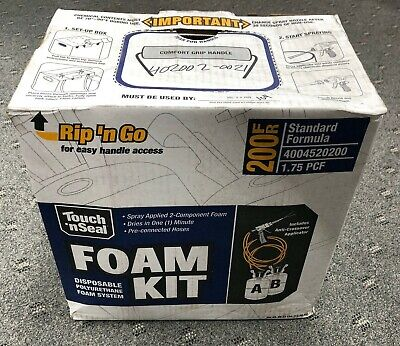Touch N Seal 200fr Spray Closed Cell Foam Insulation Kit Rip N Go 1.75 Pcf