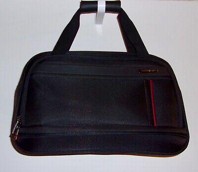 """Samsonite Travel Shoulder Bag Tote Weekender Black Nylon Luggage 12""""x17""""x7.5"""""""