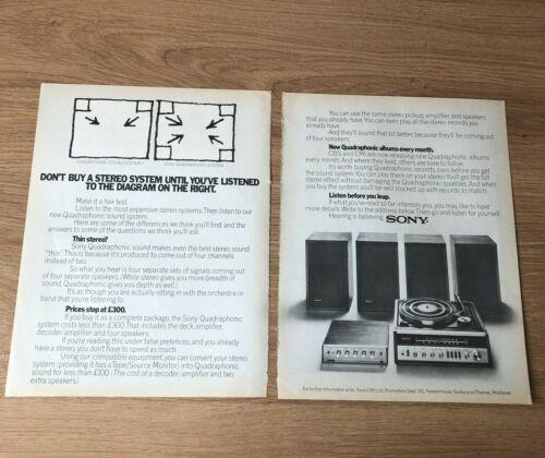 "(STG)Oct1973 Pg646-47 Advert16x11"" Sony Hi-Fi Equipment, Convert To Quadraphonic"
