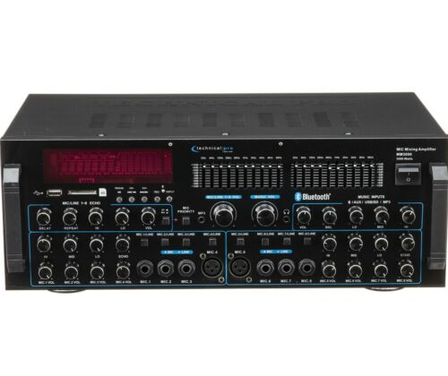 Technical Pro MM3000 3000 Watts Peak Mic Mixing Amplifier With Bluetooth