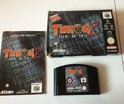 TUROK 2 SEEDS OF EVIL 64 N64 NINTENDO VIDEO GAME fully working BOXED