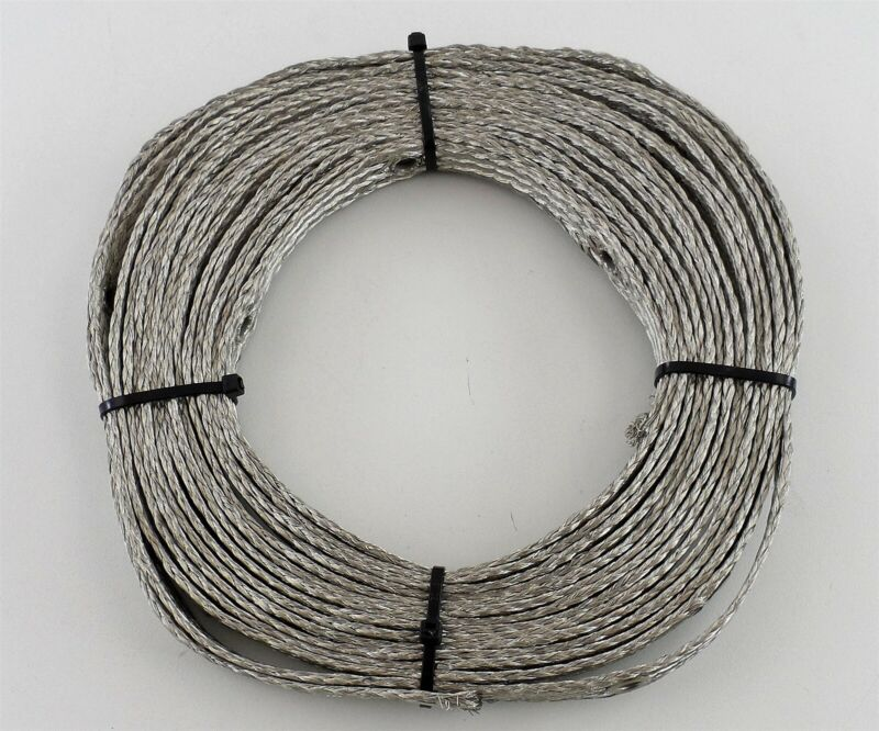 25 Feet of 1/2 Inch Flat Tinned Copper Braid with Eyelets