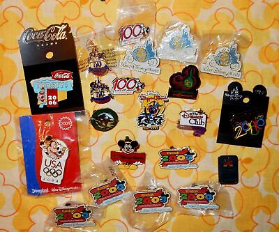 21 DISNEY PINS - RARE COCA COLA; 20 yr 25yr 50yr 100yr ANIMAL KINGDOM OLYMPIC ++