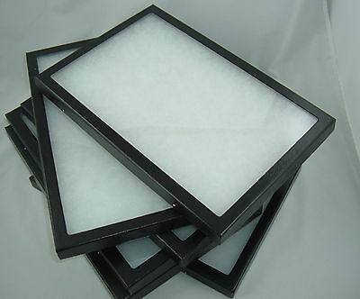Six Jewelry Display Case Riker Mount Shadow Box Collection Polyfoam 6 X 8 X 78