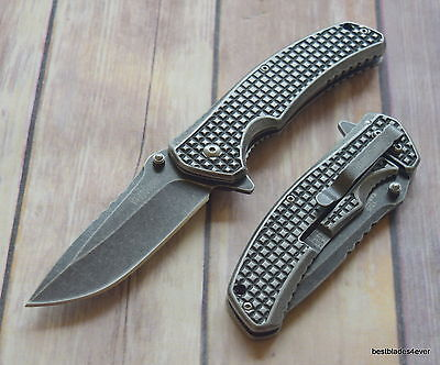 Kershaw Headgrille Spring Assisted Knife With Pocket Clip   Razor Sharp   Blade