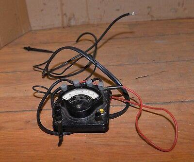 Antique Western Volt Gauge Model 280 Steampunk Industrial Volt Meter Collectible