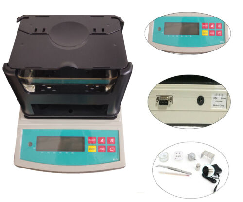 600g Plastic Density Meter Tester 0.001 g/cm3 Resolution Densitometer Equipment