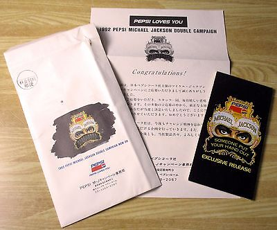 Michael Jackson Someone Put Your Hand Out Japan Promo CD + Pepsi letter RARE