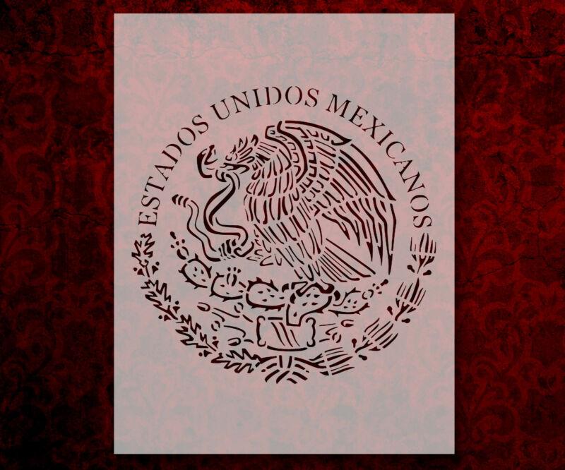 """Mexican Flag Estados Unidos Mexicanos 8.5"""" x 11"""" Stencil FREE SHIPPING (802)"""