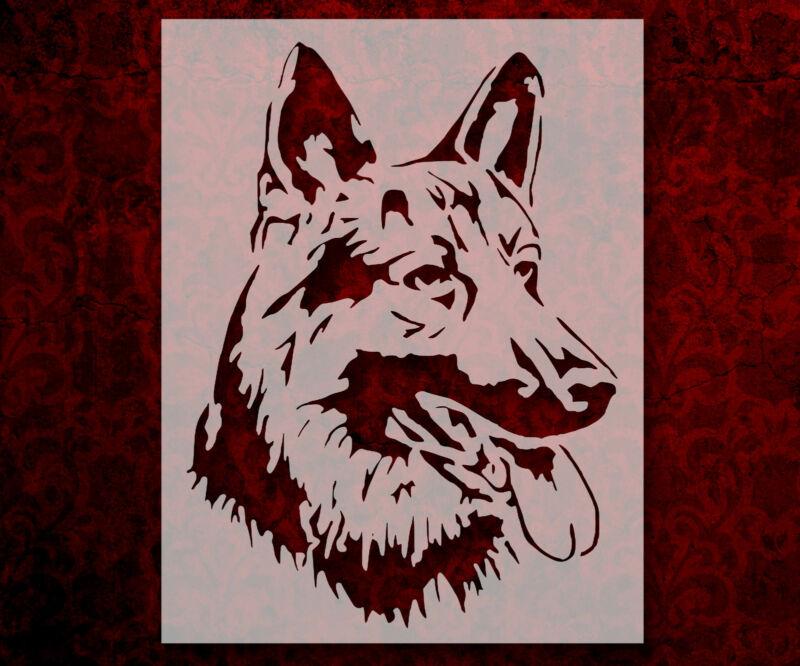 "German Shepherd Dog Breed Face Head  8.5"" x 11"" Stencil FAST FREE SHIPPING (729)"