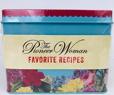 The Pioneer Woman Favorite Recipes Recipe Box Tin Floral Pattern New Ships Free