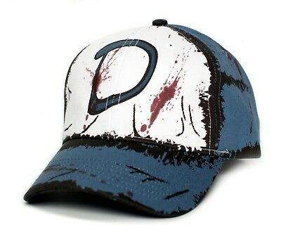 Clementine's Custom Blood Stain & Dirt Dead Zombies Cap Hat Unisex Slate