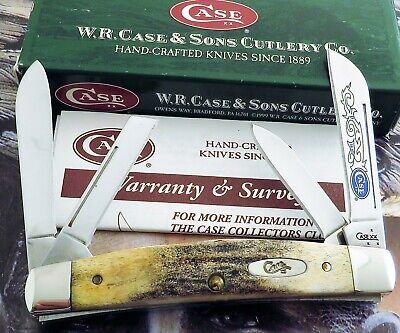 Case STAG Blue Scroll Congress Knife 2007 Issue SFO Blue Scroll Etch MIB! NR