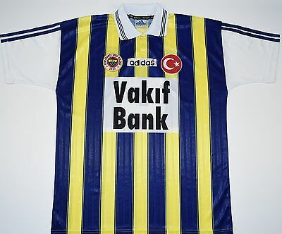 1996-1997 FENERBACHE ADIDAS HOME FOOTBALL SHIRT (SIZE XL)