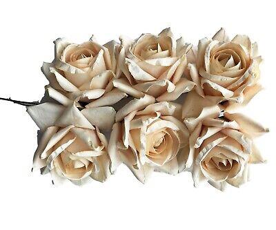 Cream Paper Roses 2