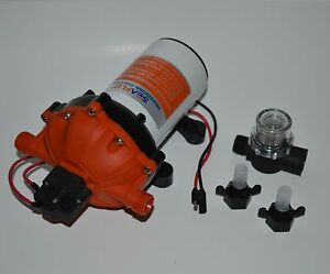 SeaFlo High Pressure Marine Water Pump 12 V DC 60 PSI 5.5 GPM on demand boat
