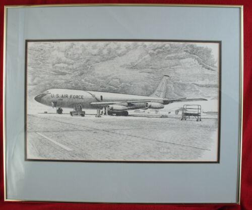 1983 Floyd Stubbs Drawing KC-135 Stratotanker Presented to Vietnam Bomber Pilot
