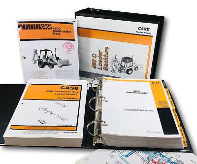 Case 480c Tractor Loader Backhoe Service Manual Parts Catalog Set