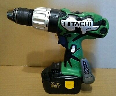 Hitachi Dv 18dl 18v 12 Cordless Hammer Drill With Working Eb1830hl Battery