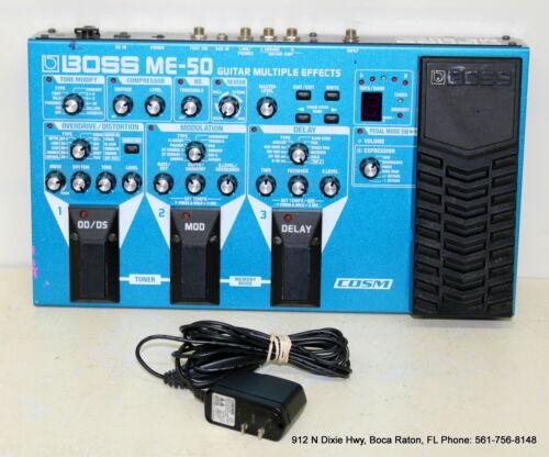 Boss ME-50 Guitar Multi Effects Pedal Processor W/Boss PSA Adapter/Power Supply