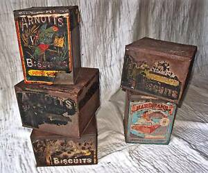 Original Vintage Arnotts Biscuit tins x 5 Avalon Pittwater Area Preview