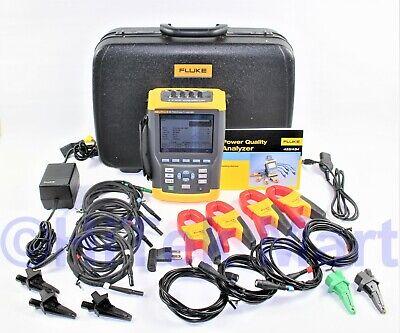 Fluke 434 Three Phase Power Quality Analyzer Meter W Interharmonics Memory