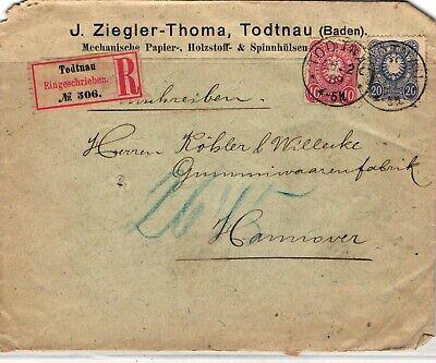 GP GOLDPATH: GERMANY COVER 1889 REGISTERED LETTER _CV669_P29
