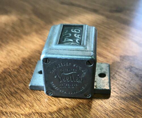 Antique Vintage Veeder Mfg 5 Digit Mechanical Counter