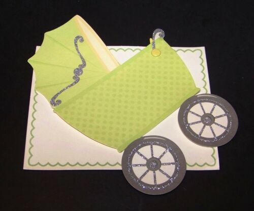 Anna Griffin New Baby Birth Announcements 16 Ct Cards Invitations Carriage Buggy