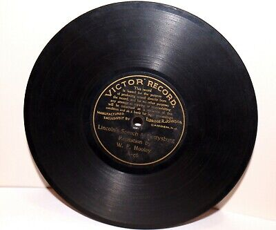 """RARE Antique 7"""" 1st VICTOR RECORD A-56 Phonograph Gramophone 1901"""