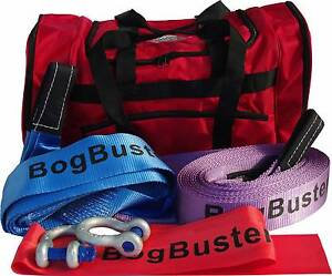 BOGBUSTER RECOVERY KIT OFF ROAD 4X4 SNATCH STRAP BAG SHACKLE TRE Beldon Joondalup Area Preview