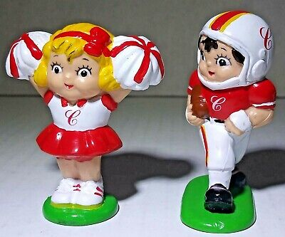 Vintage 1985 Campbell's Soup Campbell Kids Set of 2 PVC Figures Football Themed