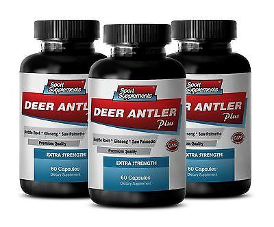 Nettle Leaves Extract - Deer Antler Plus 550mg - Male Enhancers Supreme Caps 3B