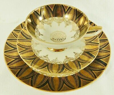 Set of Greek Gold painted trays 24kt gold Greek goddess art Made in Greece Greek gold plated small collectable porcelain trays