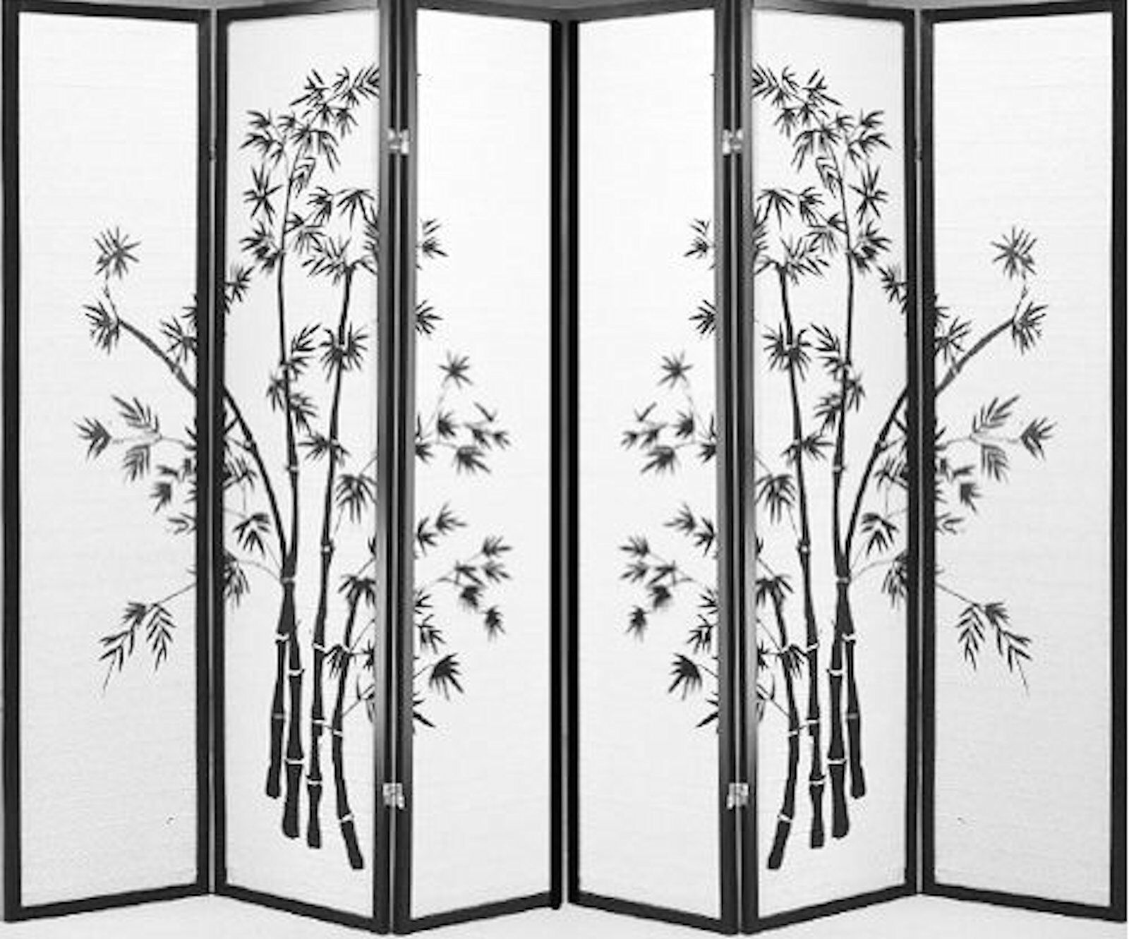 Купить Legacy Decor 606 - 8 6 4 & 3 Panel Wood Shoji Room Divider Screen Bamboo Print