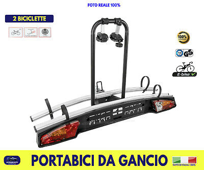 Portabici Gancio Traino Posteriore Auto da Biciclette Ebike Bicicletta kit per 2
