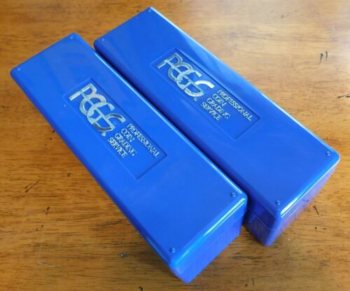 2-PCGS BLUE (20-COIN/SLAB) STORAGE BOXES, no coins! Used boxes.
