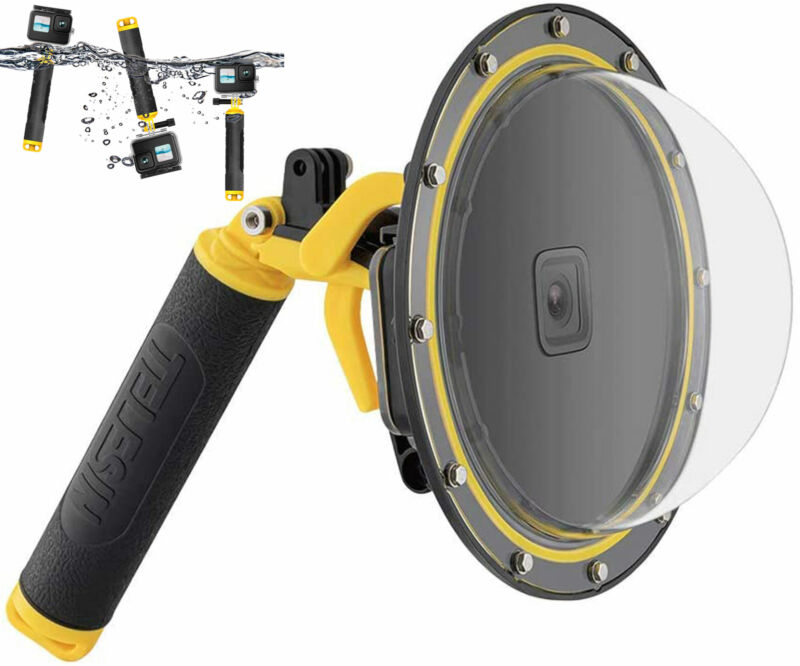 TELESIN Dome Port For GoPro Hero 10 9 Underwater Diving Protector Accessories
