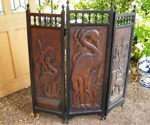 Antique Carved Folding Fire Screen ,other screens and antiques Martin Gosnells Area Preview