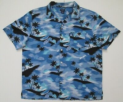 "Vintage Auth Guess Jeans Hawaiian Shirt 48""-122cm  L (227H)"