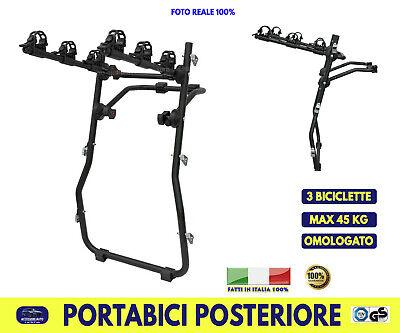 Portabici Posteriore per Nissan Micra 2002> trasporto 3 biciclette omologato kit