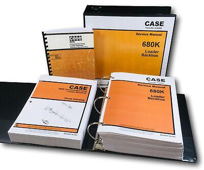 Case 680k Tractor Loader Backhoe Service Parts Operators Manual Shop Set Book