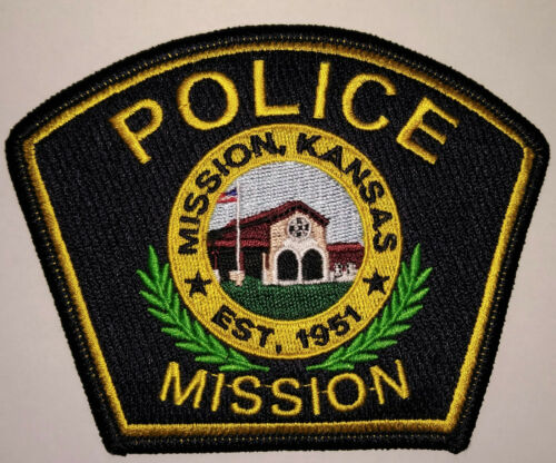 Mission Kansas Police Patch (Old / Obsolete Style) // FREE US SHIPPING!