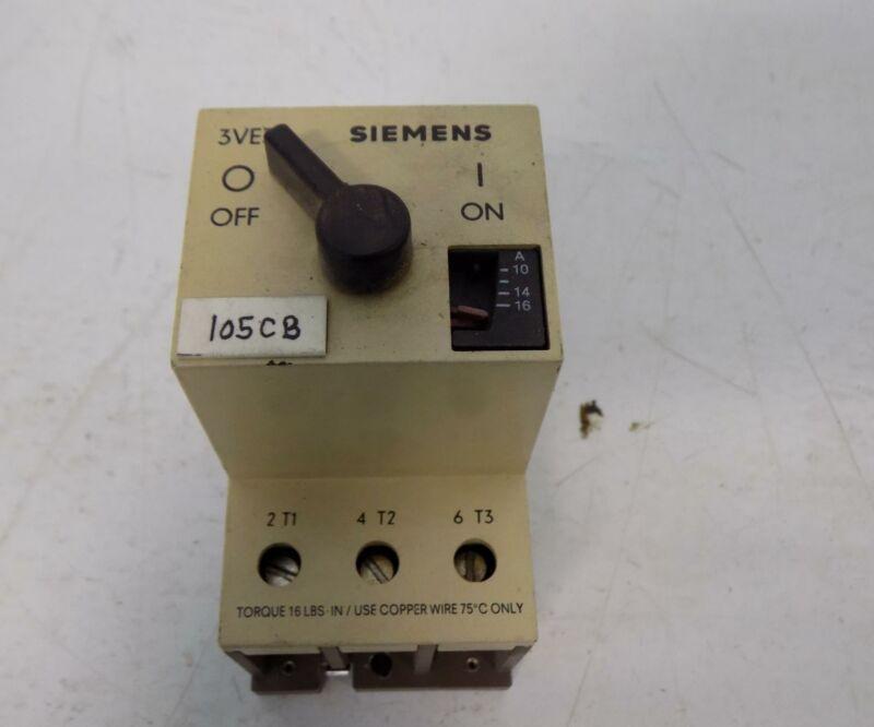 SIEMENS 10-16AMP MOTOR STARTER 3VE3000-2MA00