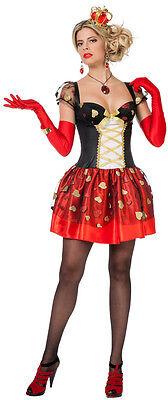 Herzkönigin Prinzessin Märchenkostüm NEU - Damen Karneval Fasching Verkleidung K