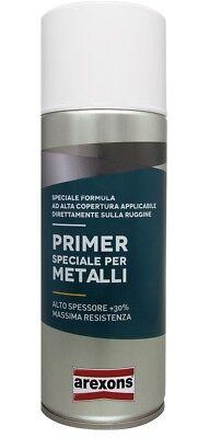 Bomboletta Vernice spray Fondo Riempitivo per METALLO 400ml AREXONS 3432